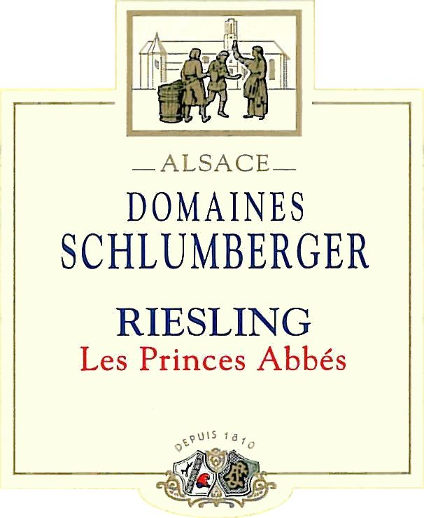 Domaines Schlumberger Les Princes Abbes Riesling 2016  Front Label