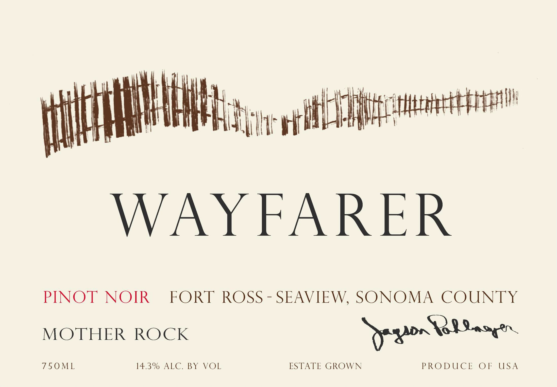 Wayfarer Mother Rock Pinot Noir 2016  Front Label