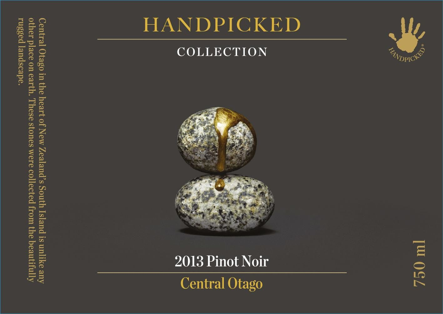 Handpicked Wines Collection Central Otago Pinot Noir 2013 Front Label
