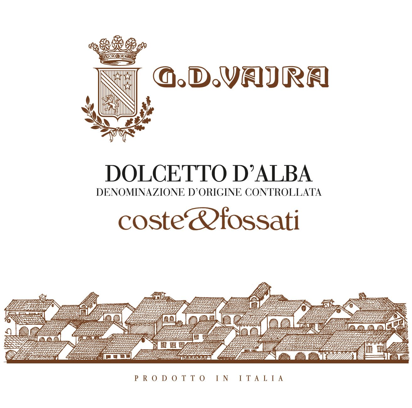 G.D. Vajra Dolcetto d'Alba Coste and Fossati 2018  Front Label