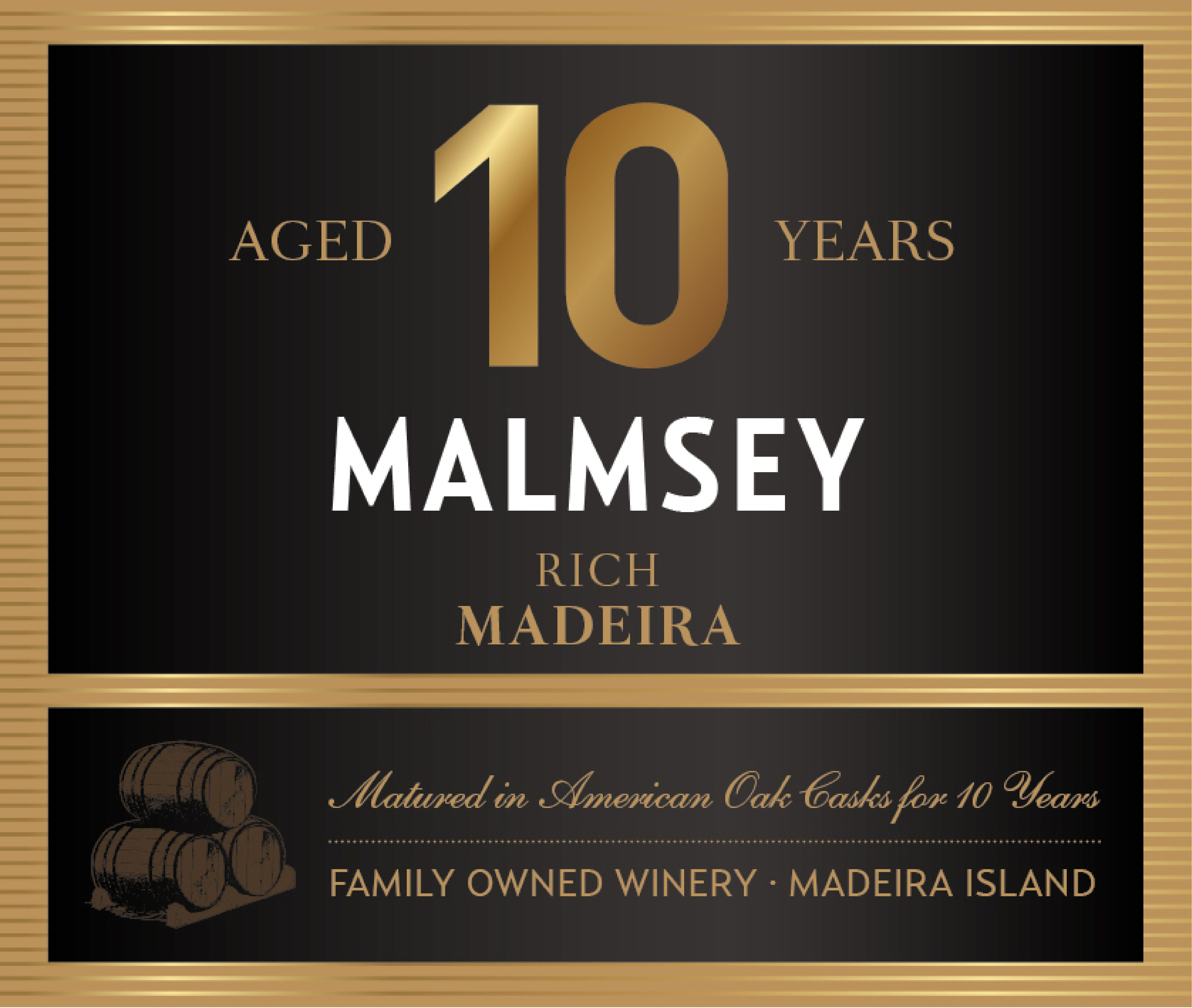 Blandy's 10 Year Madeira Rich Malmsey (500ML) Front Label