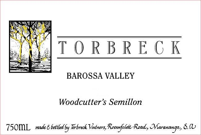 Torbreck Woodcutter's Semillon 2016 Front Label