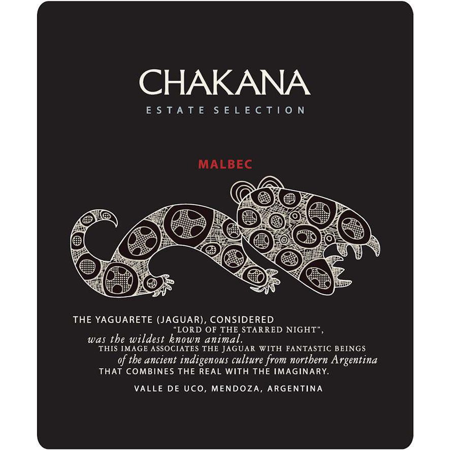 Bodega Chakana Estate Selection Malbec 2018  Front Label