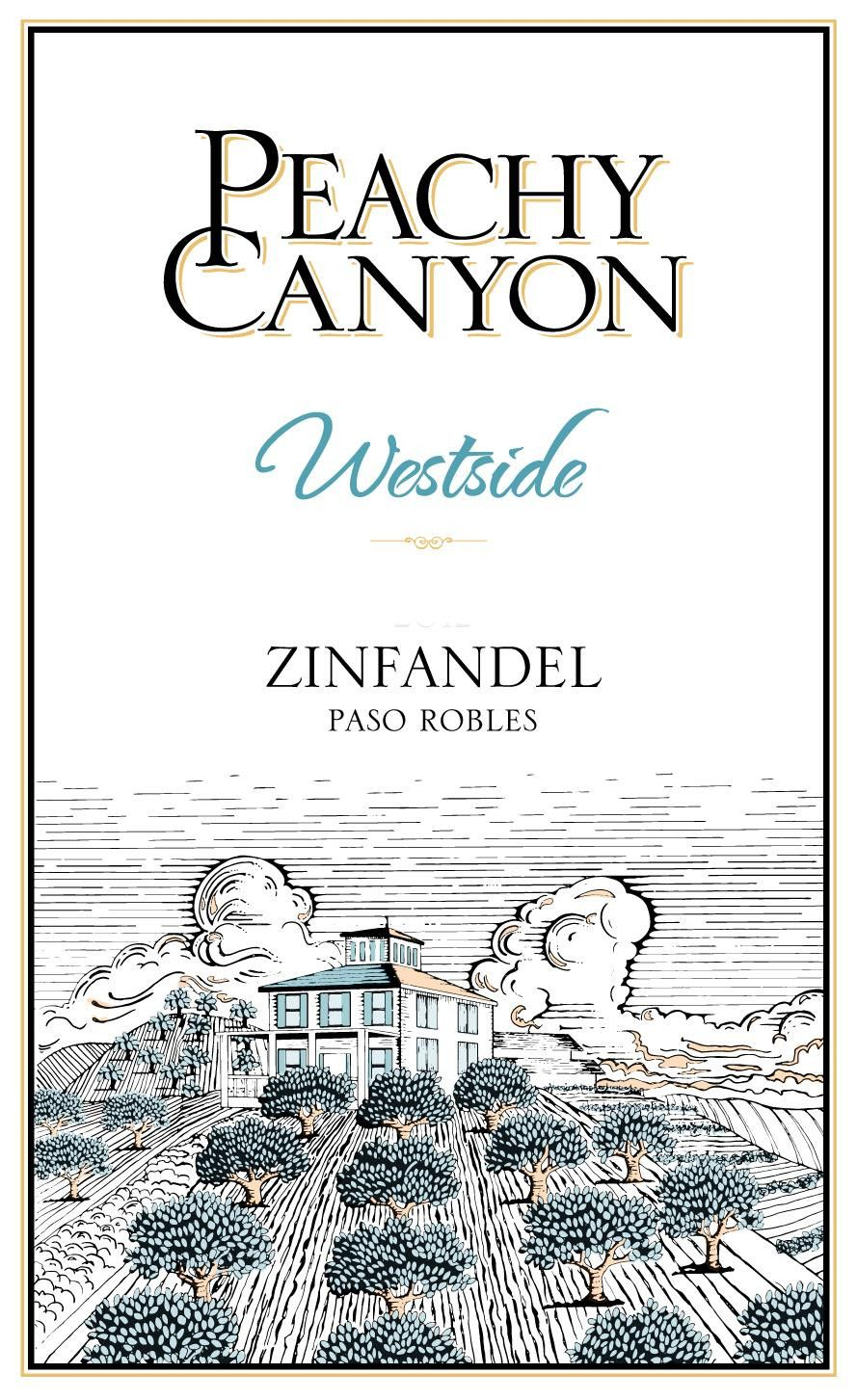 Peachy Canyon Westside Zinfandel 2016 Front Label