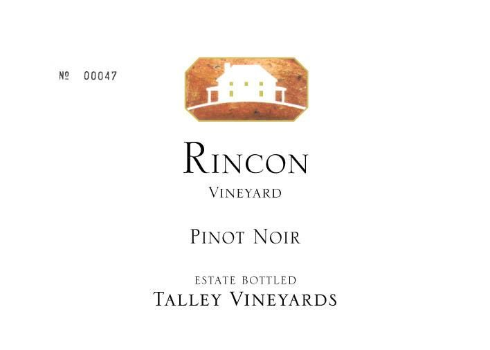Talley Rincon Vineyard Pinot Noir 2016 Front Label