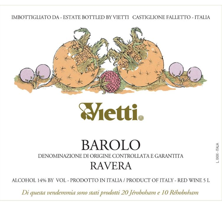 Vietti Barolo Ravera (5 Liter Bottle) 2014 Front Label