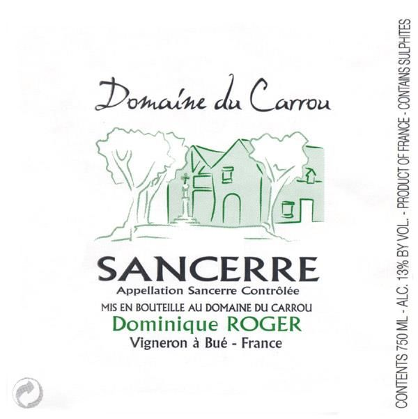 Dominique Roger Sancerre Domaine du Carrou Blanc 2017 Front Label