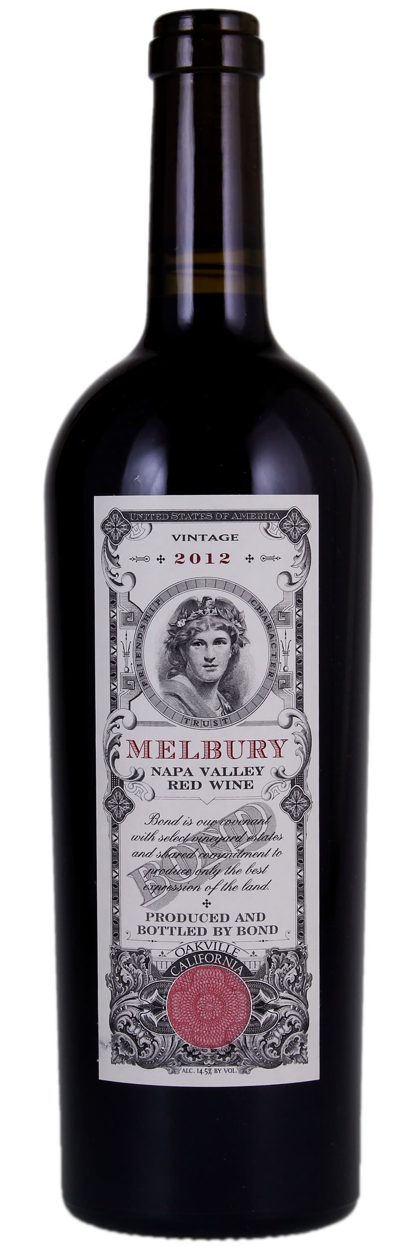 Bond Melbury (1.5 Liter Magnum) 2012  Front Bottle Shot