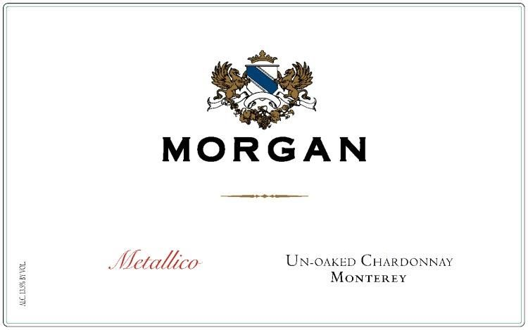 Morgan Metallico Unoaked Chardonnay 2018  Front Label