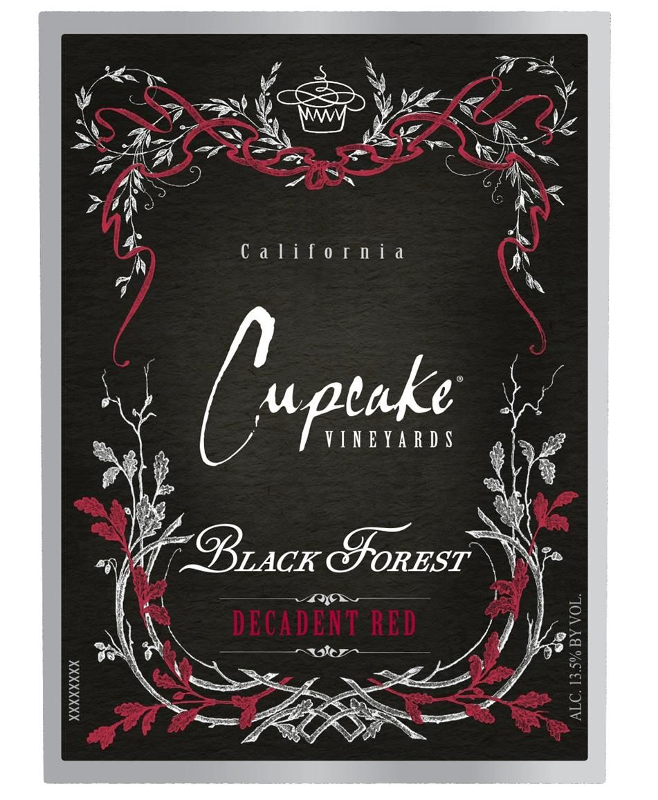 Cupcake Vineyards Black Forest Decadent Red  Front Label