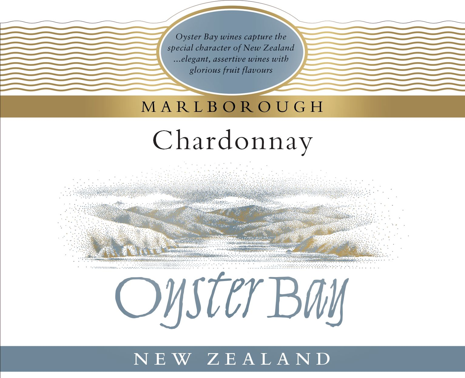 Oyster Bay Marlborough Chardonnay 2018  Front Label