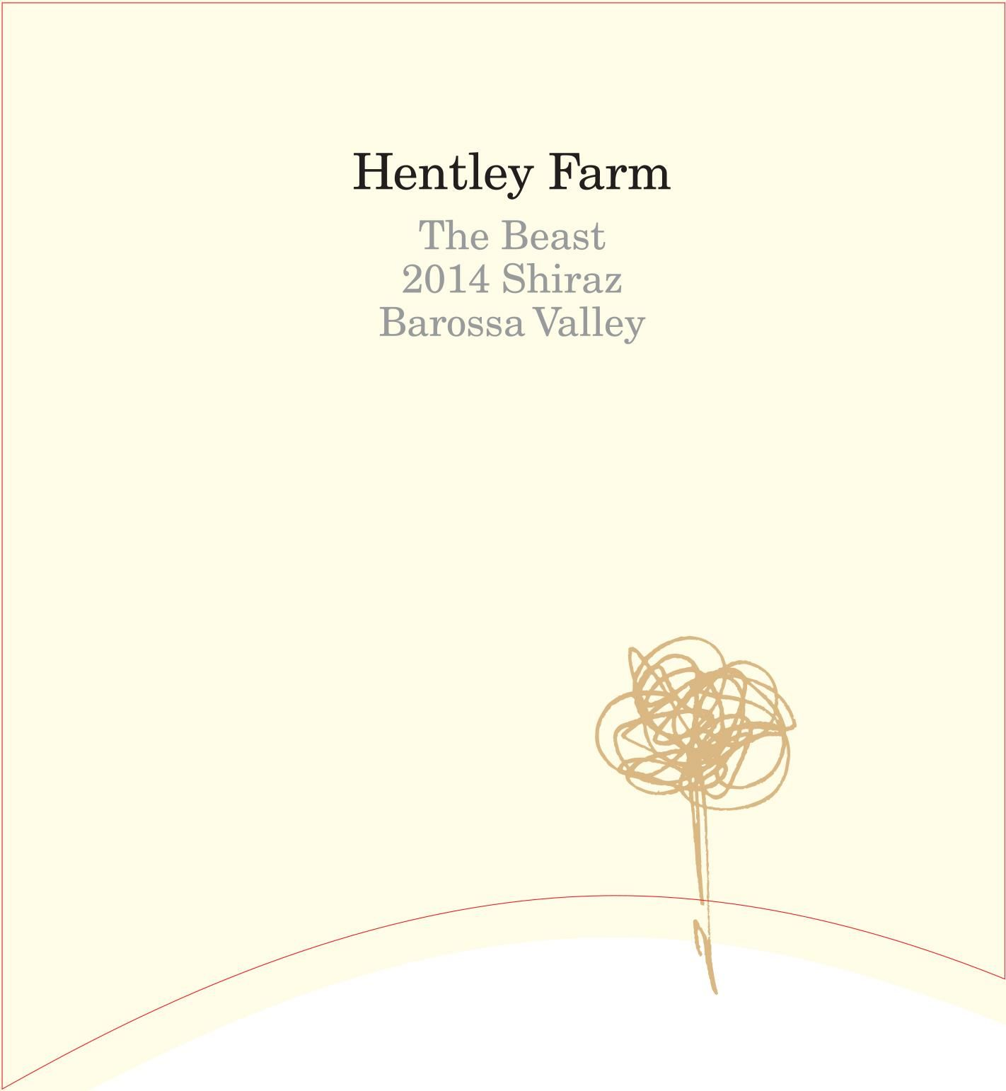 Hentley Farm The Beast Shiraz 2014  Front Label