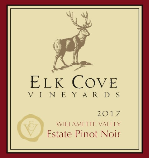 Elk Cove Willamette Valley Pinot Noir 2017  Front Label