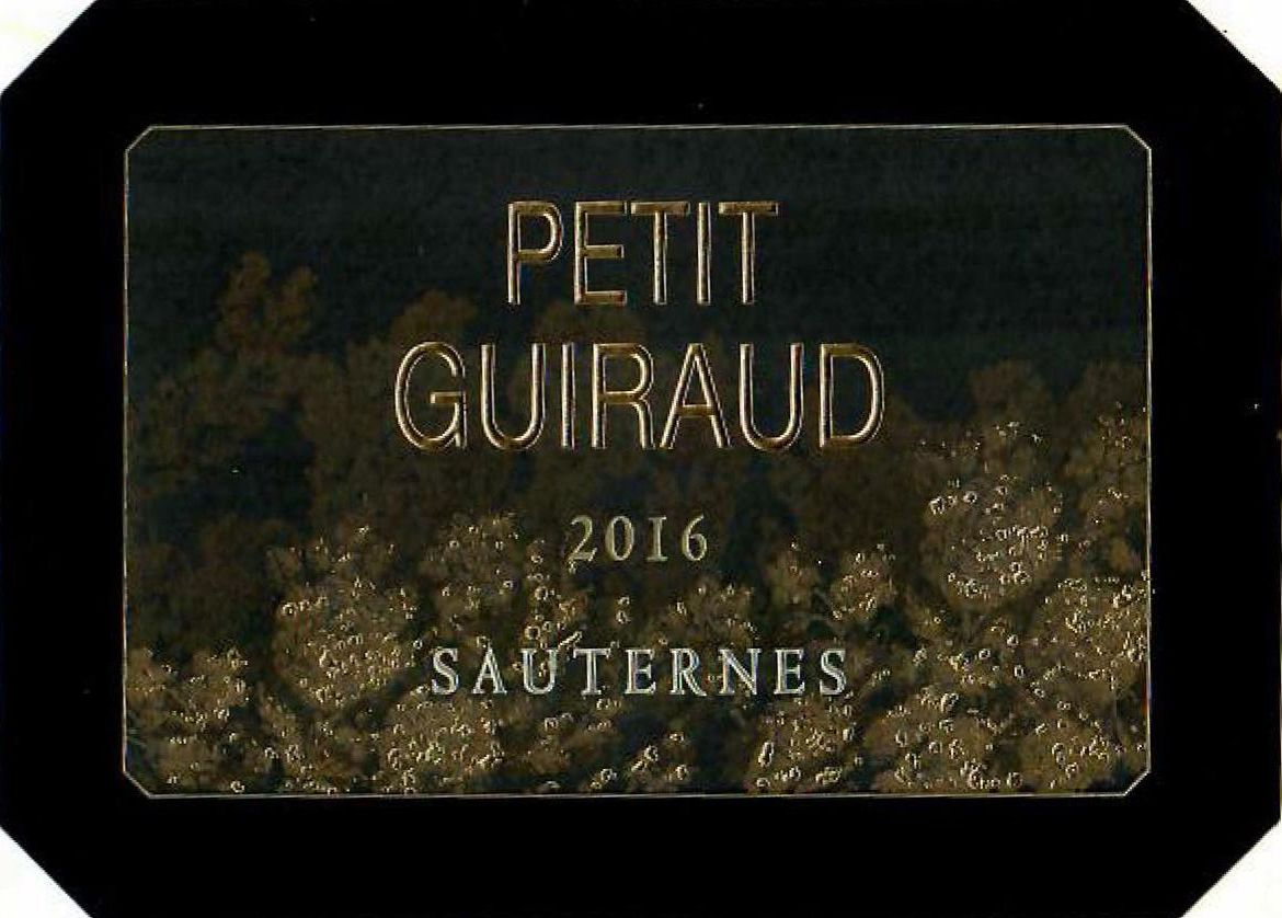 Chateau Guiraud Petit Guiraud Sauternes 2016  Front Label