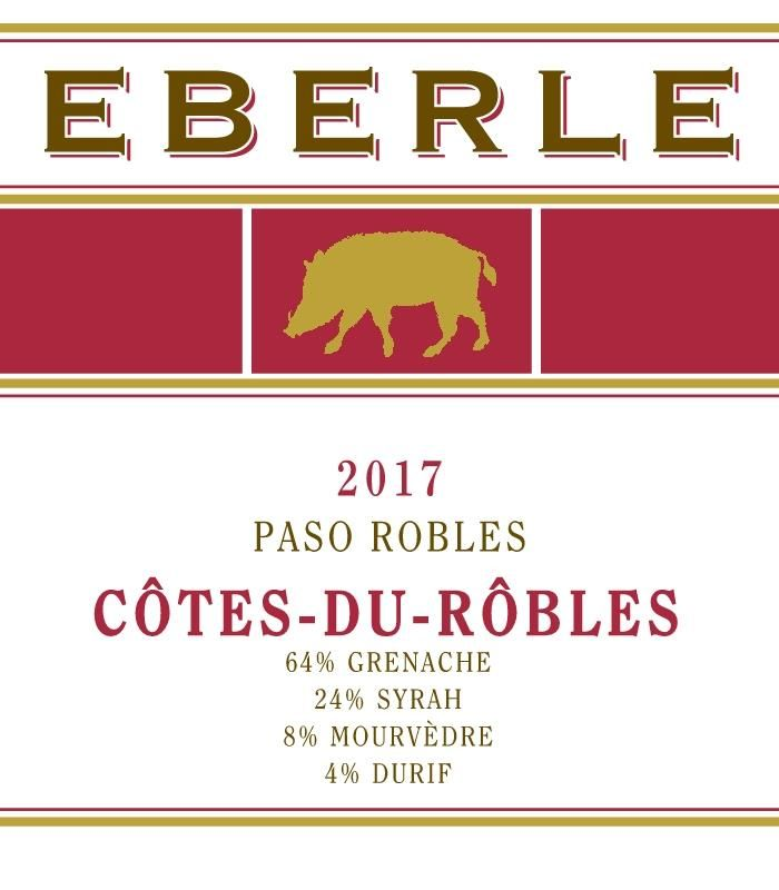 Eberle Cotes-du-Robles Rouge 2017  Front Label