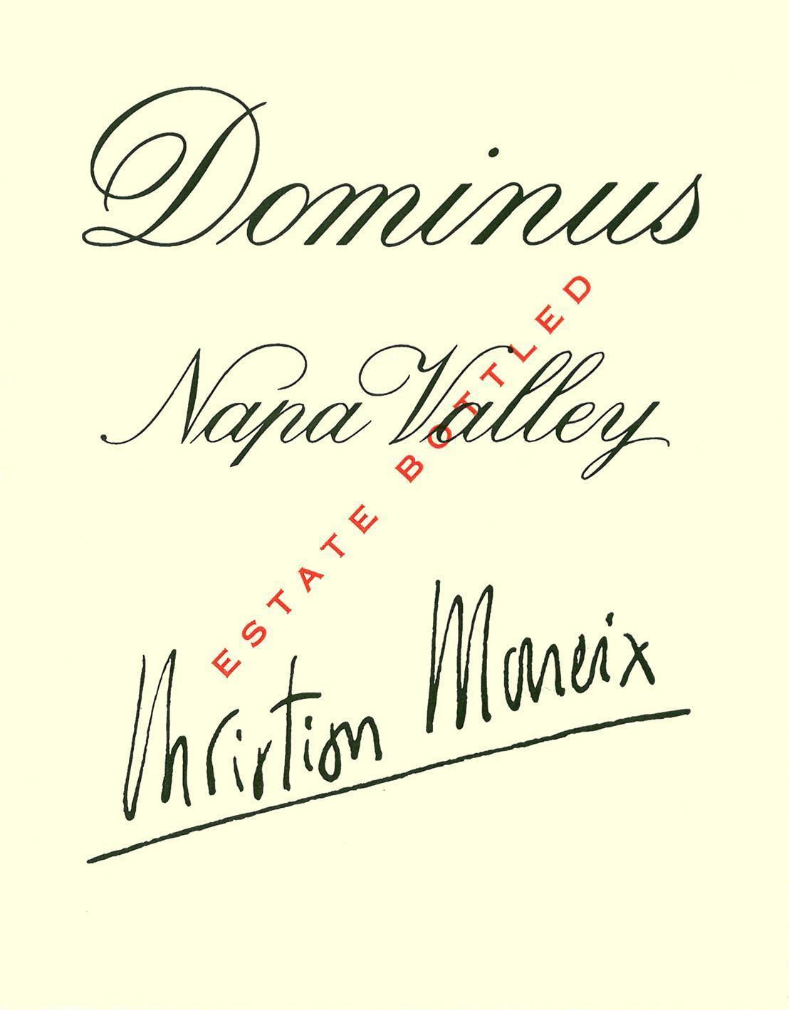 Dominus Estate (6 Liter Bottle) 1994  Front Label