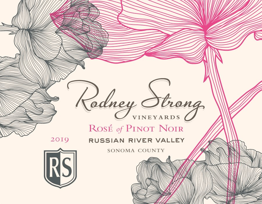 Rodney Strong Rose of Pinot Noir 2019  Front Label