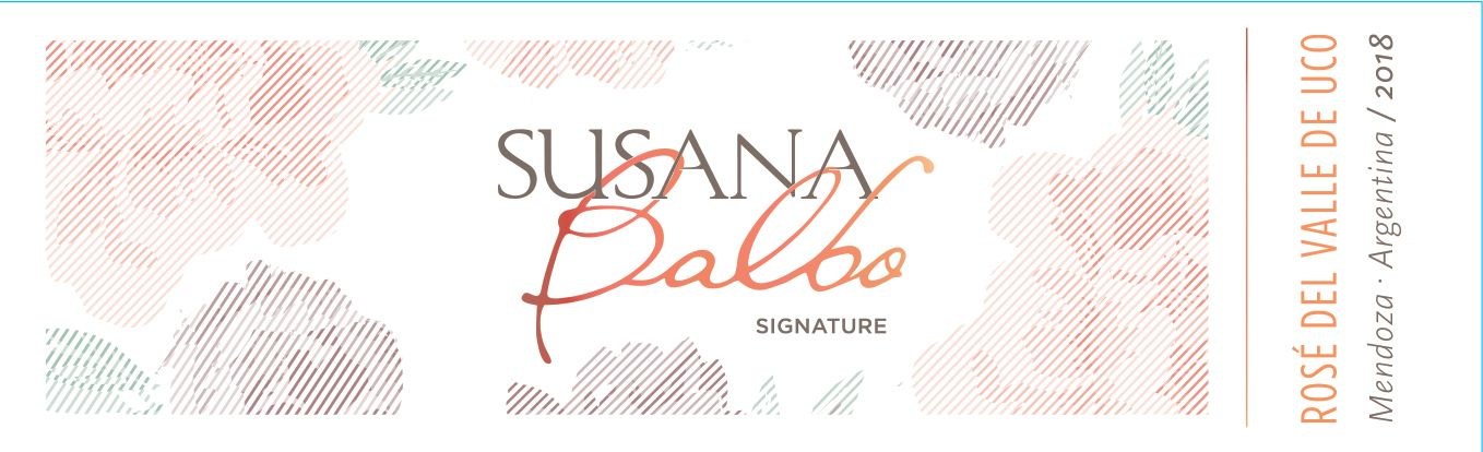 Susana Balbo Signature Rose 2018 Front Label