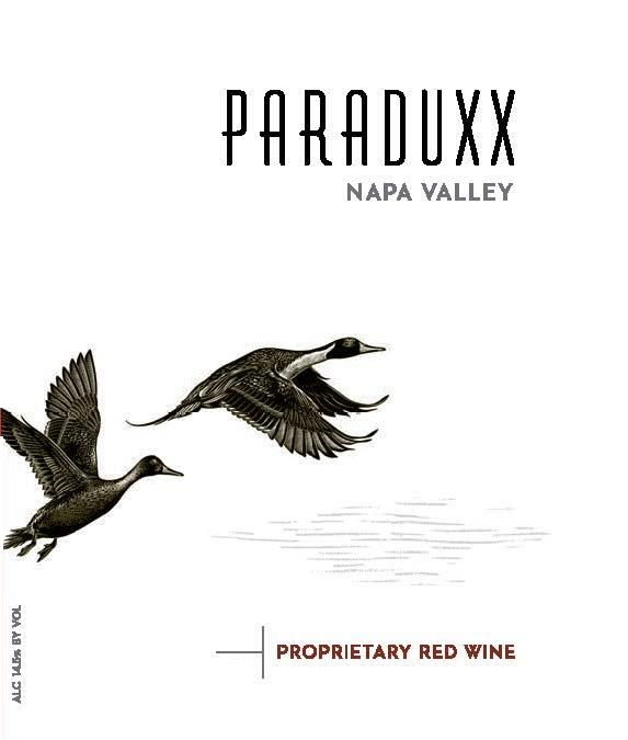 Paraduxx Proprietary Red 2016 Front Label