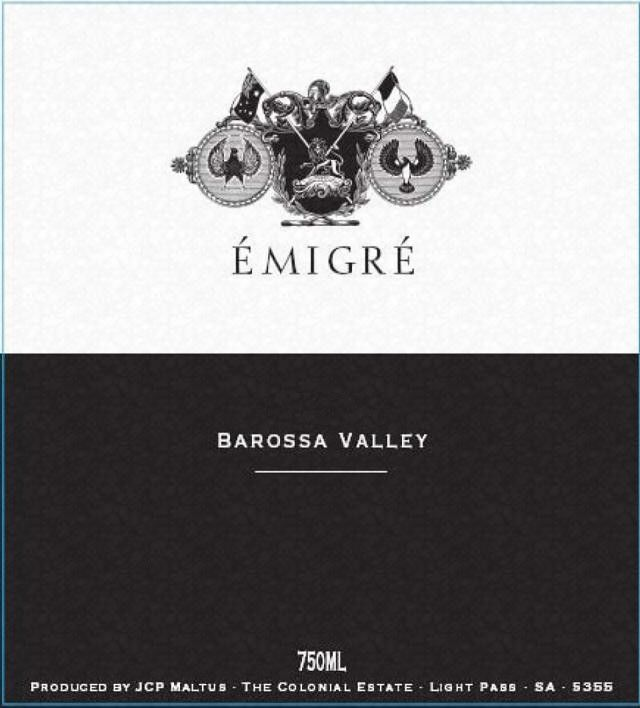 The Colonial Estate Emigre 2002 Front Label