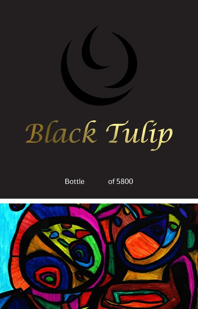 Tulip Black Tulip (OK Kosher) 2016  Front Label