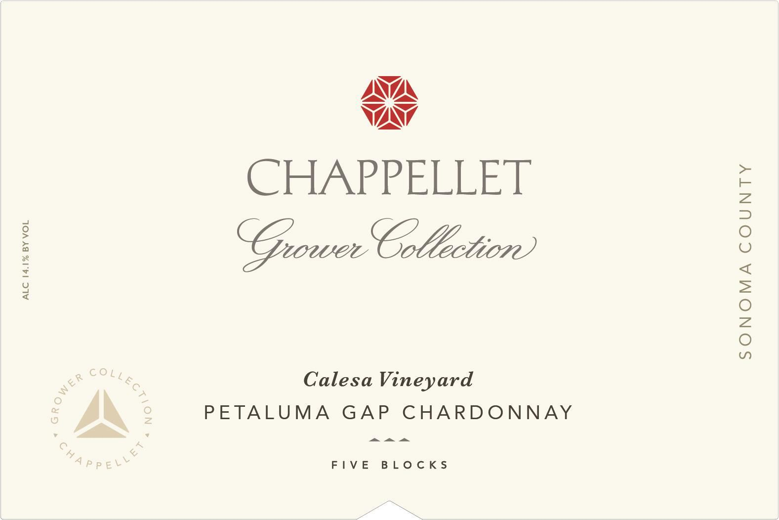 Chappellet Grower Collection Calesa Vineyard Chardonnay 2018  Front Label