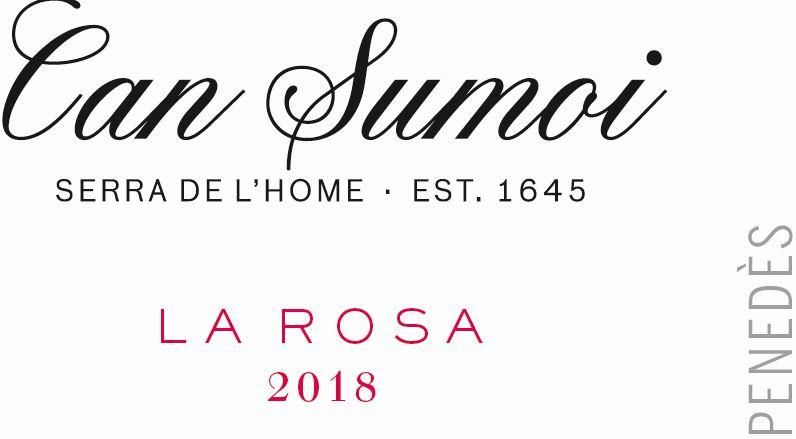 Can Sumoi La Rosa Rose 2018  Front Label