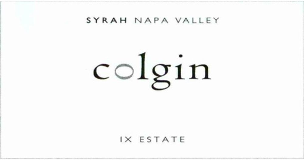 Colgin IX Estate Syrah 2012 Front Label