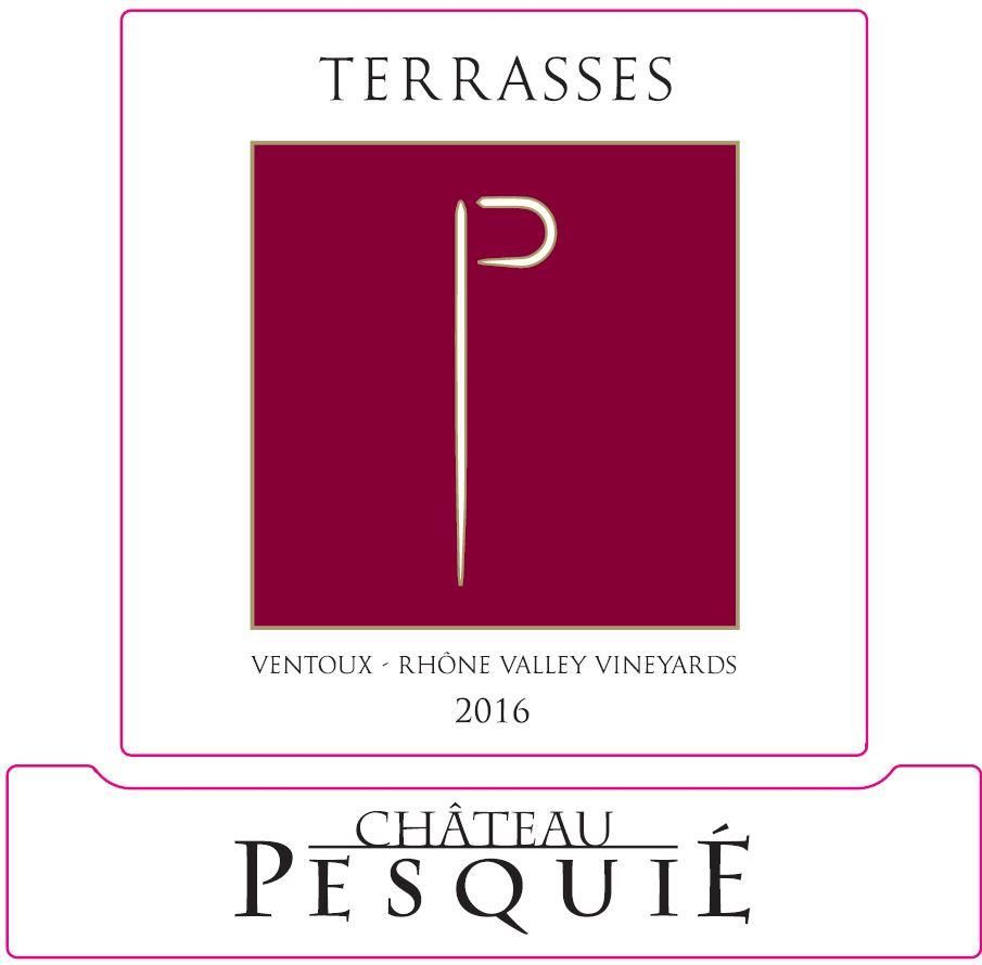 Chateau Pesquie Terrasses Rouge 2016 Front Label