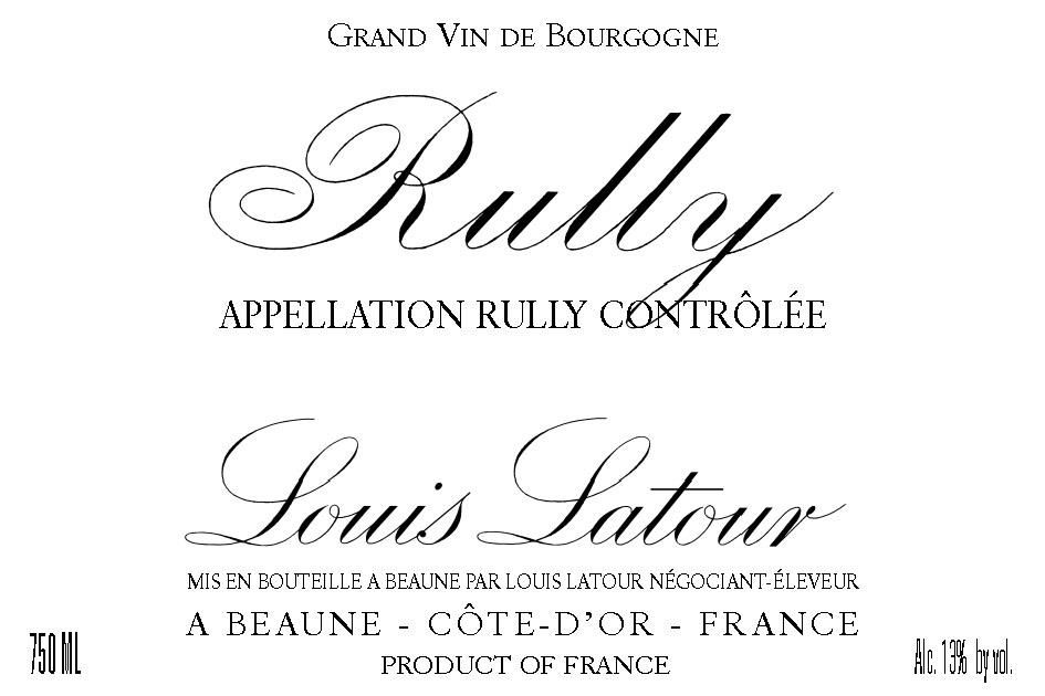Louis Latour Rully Rouge 2014  Front Label