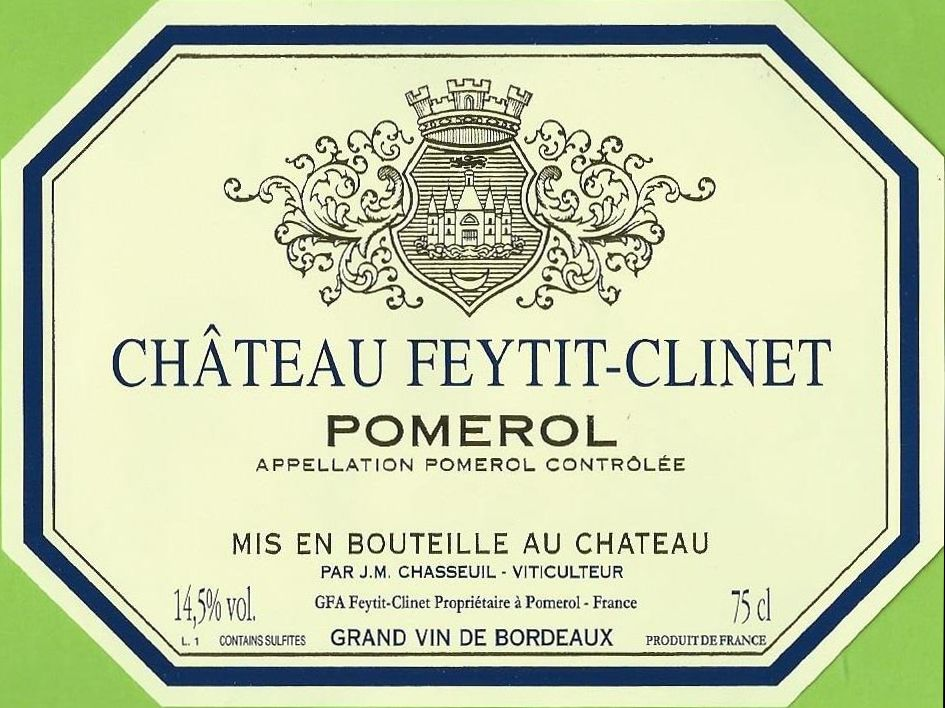 Chateau Feytit-Clinet (Futures Pre-Sale) 2019  Front Label