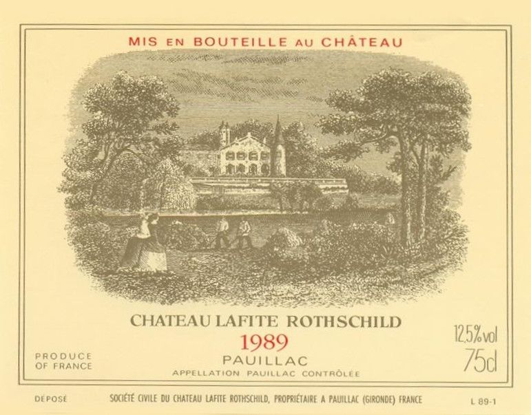 Chateau Lafite Rothschild  1989  Front Label