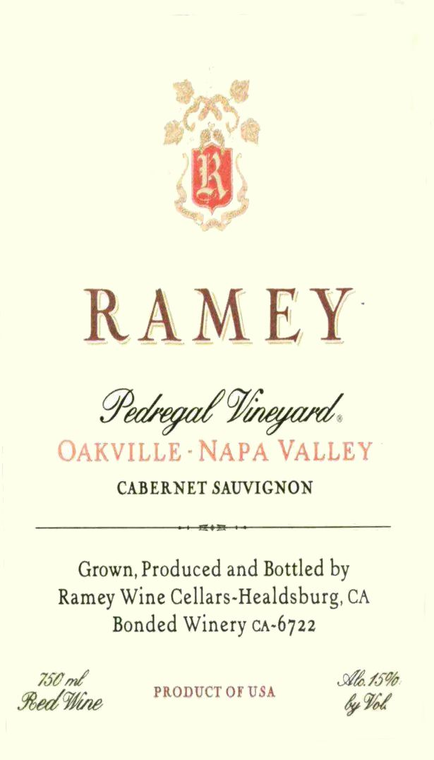 Ramey Pedregal Vineyard Cabernet Sauvignon 2014 Front Label