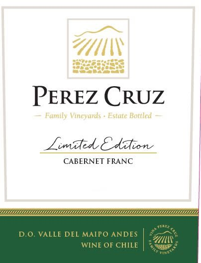 Perez Cruz Limited Edition Cabernet Franc 2017  Front Label