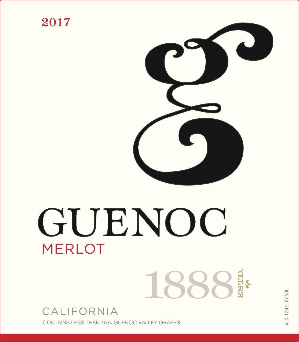 Guenoc California Merlot 2017 Front Label