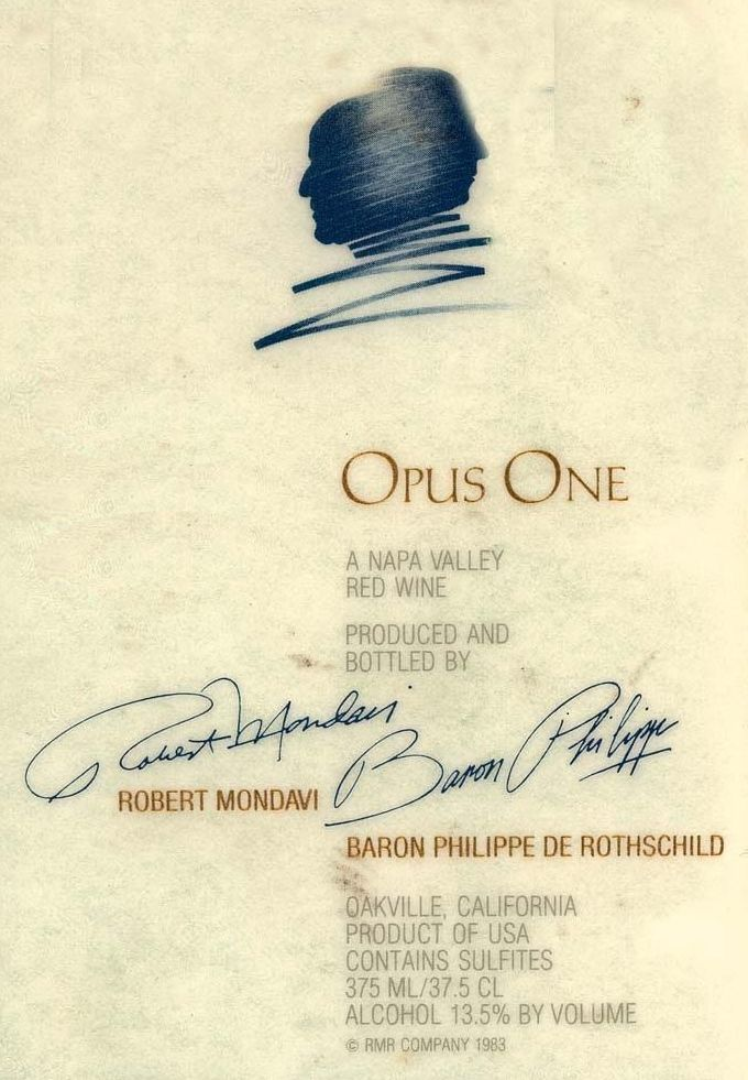 Opus One (375ML half-bottle) 1993  Front Label