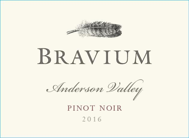 Bravium Anderson Valley Pinot Noir 2016 Front Label