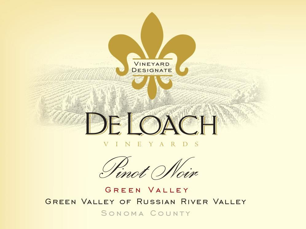 DeLoach Green Valley Pinot Noir 2015  Front Label