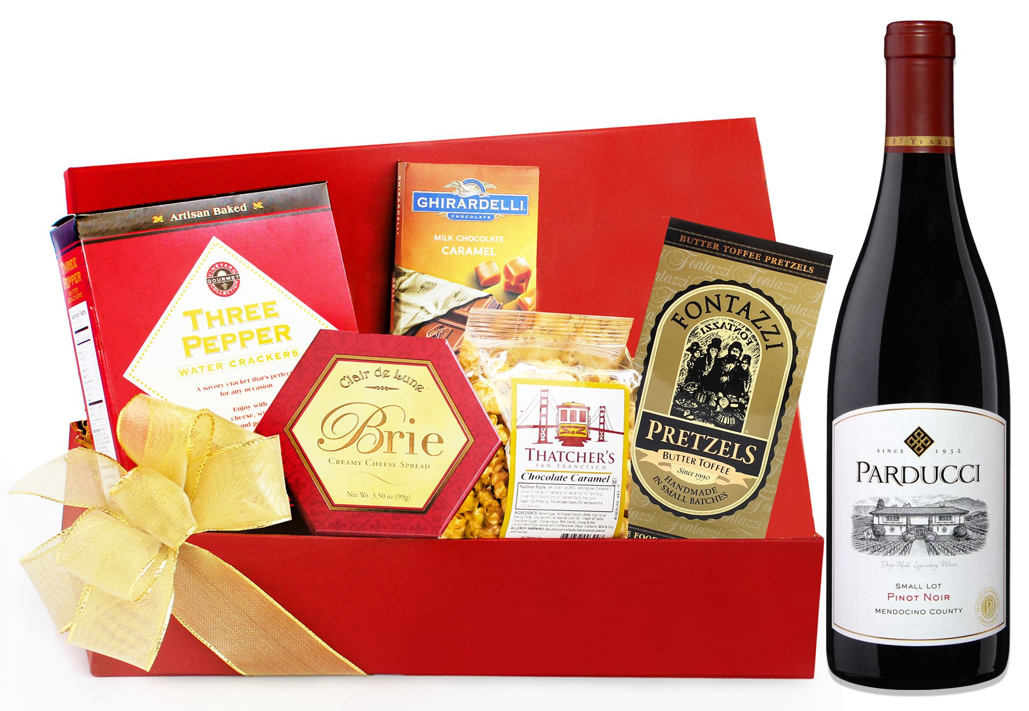 wine.com 90 Point Parducci Pinot Noir & Tempting Treats Gift Basket  Gift Product Image