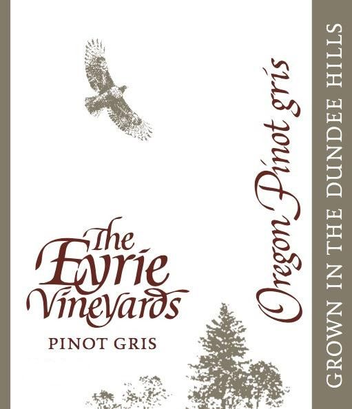 Eyrie Pinot Gris 2018  Front Label