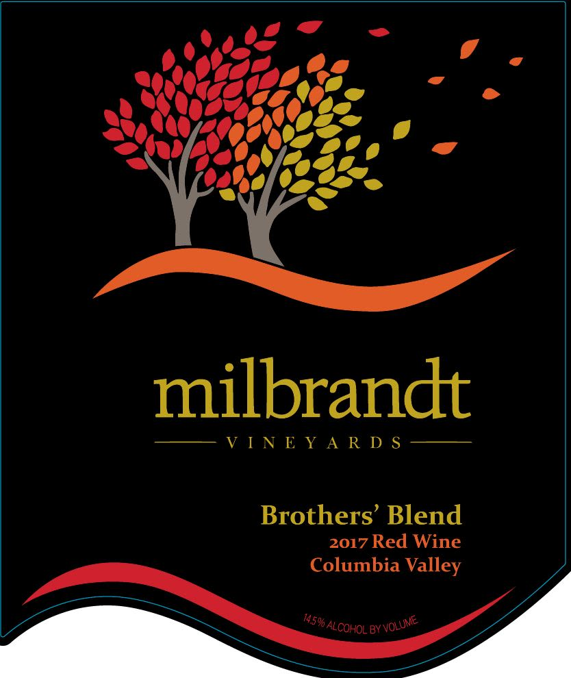 Milbrandt Brother's Red Blend 2017  Front Label