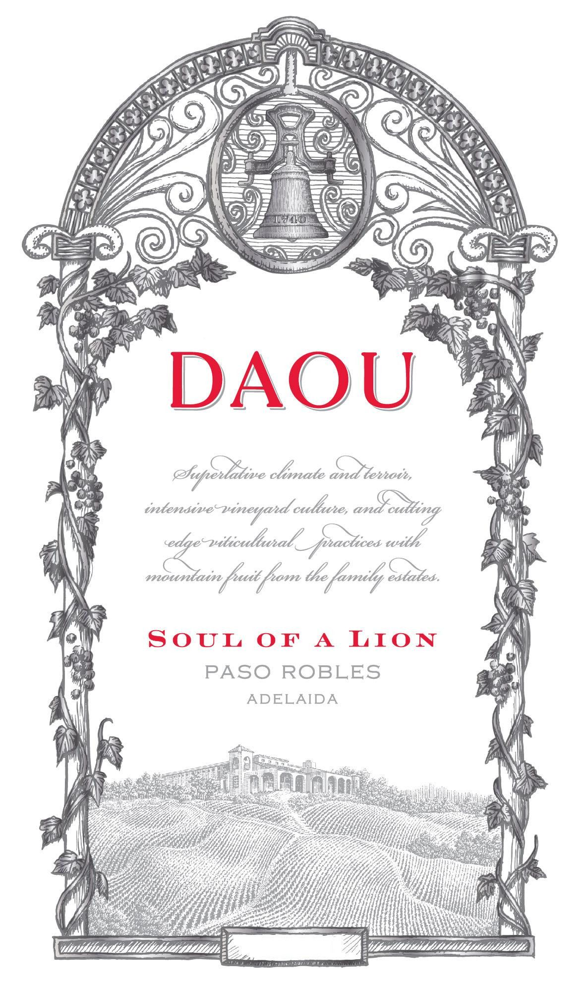DAOU Vineyards Soul of a Lion 2016 Front Label