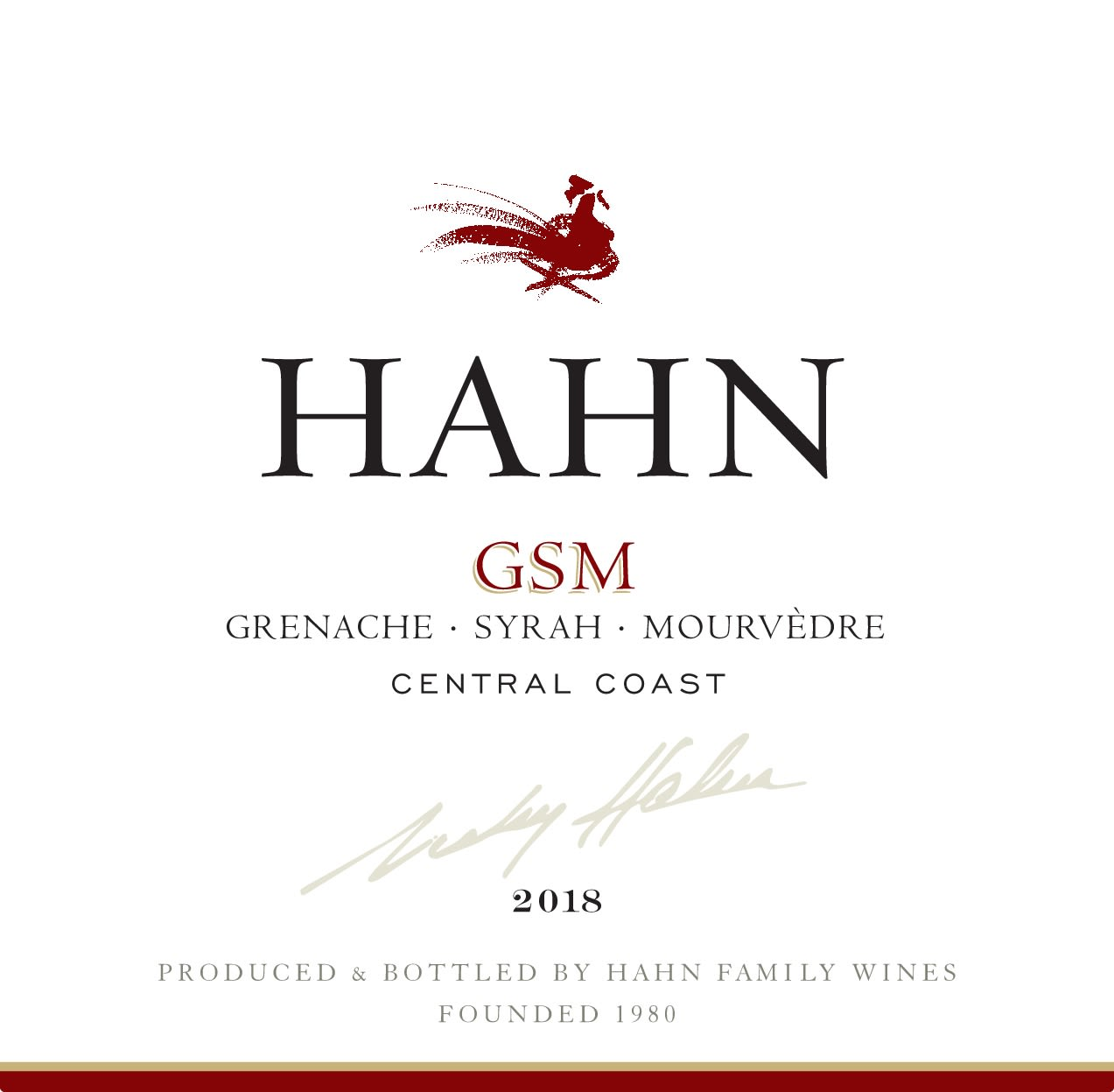 Hahn Winery GSM 2018  Front Label