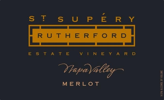 St. Supery Rutherford Merlot 2016  Front Label