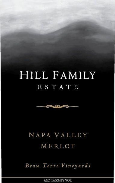 Hill Family Estate Napa Valley Merlot 2014 Front Label