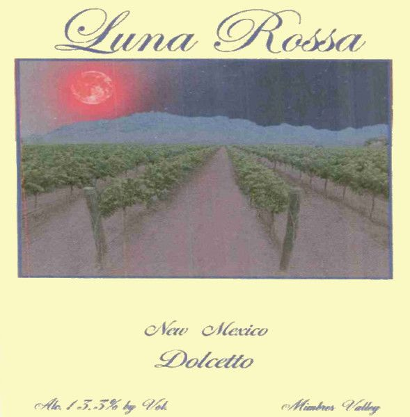 Luna Rossa Winery Dolcetto 2004  Front Label