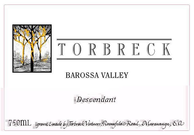 Torbreck Descendant Shiraz 2003  Front Label
