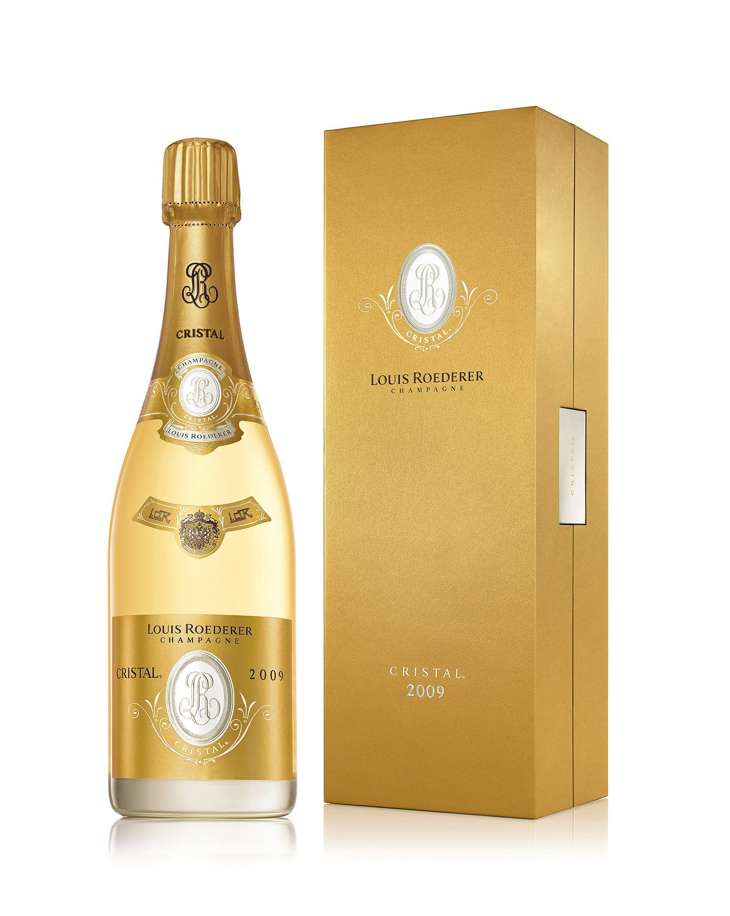 Louis Roederer Cristal Brut with Gift Box 2009  Front Label