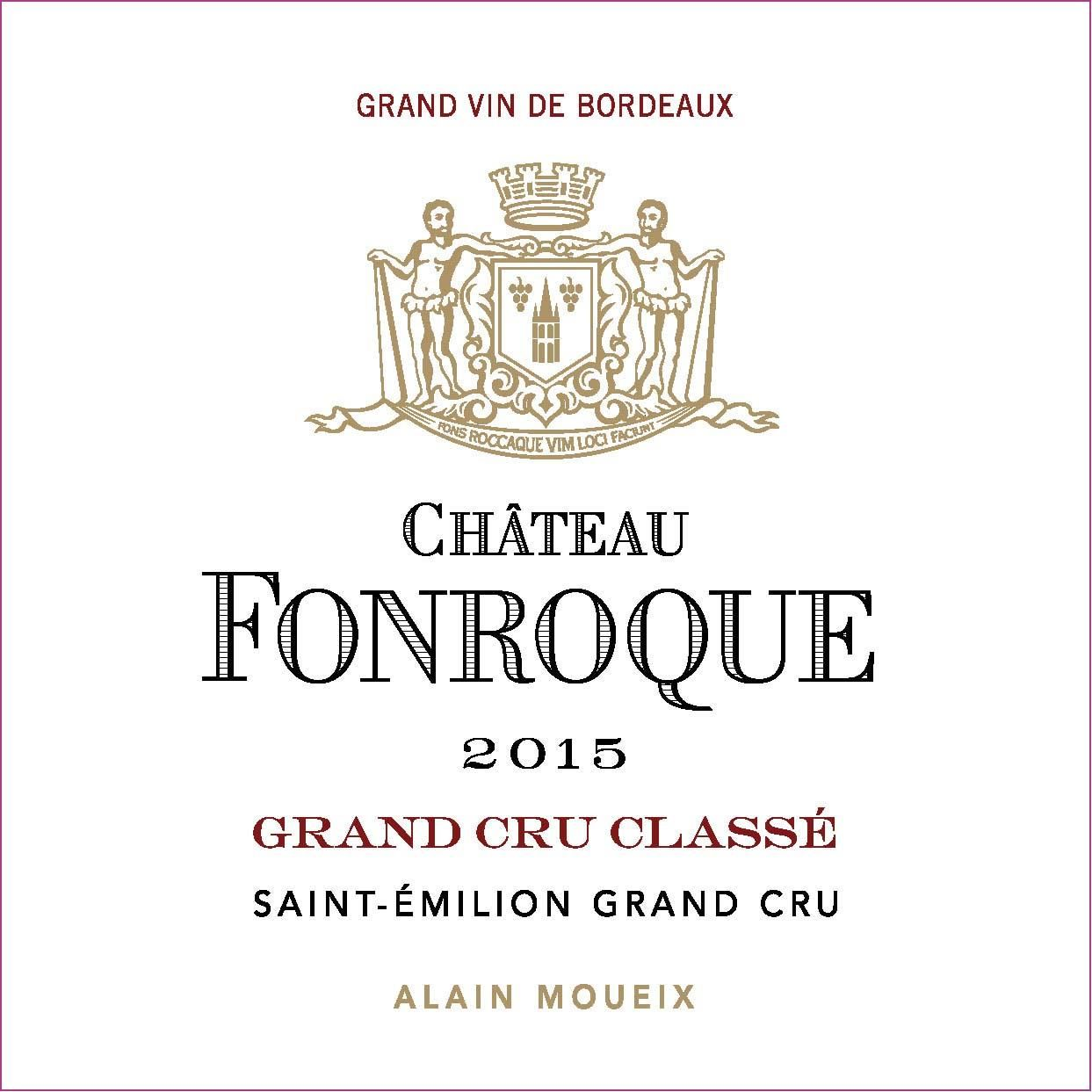Chateau Fonroque  2015  Front Label