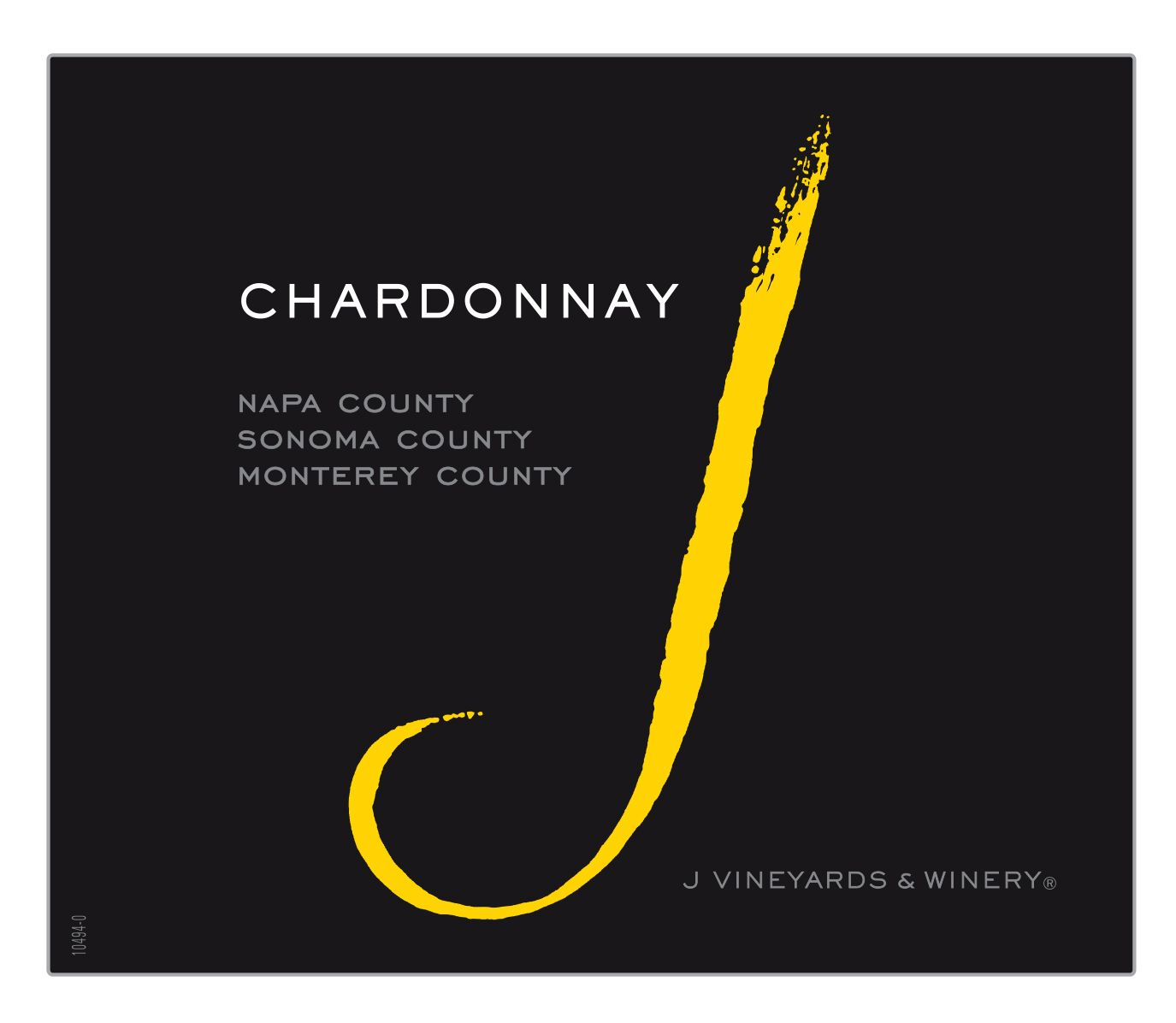 J Vineyards California Chardonnay 2017 Front Label